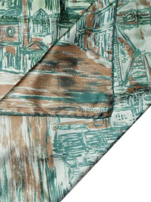 Jacqmar silk scarf with images of London