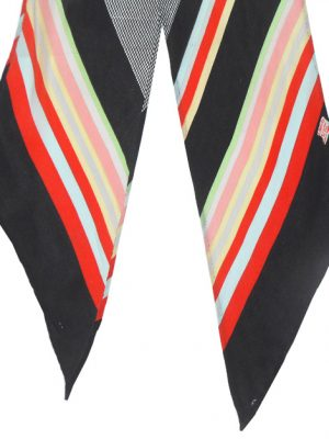 Liberty coloured stripe design long silk scarf