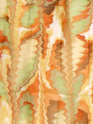 Marbles - handprinted in London - marbled silk scarf - Robert Ashley
