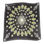 Otrera black green and white silk scarf