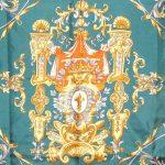 Talbots classic heraldry design silk scarf