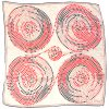 Richard Allan spot design silk scarf