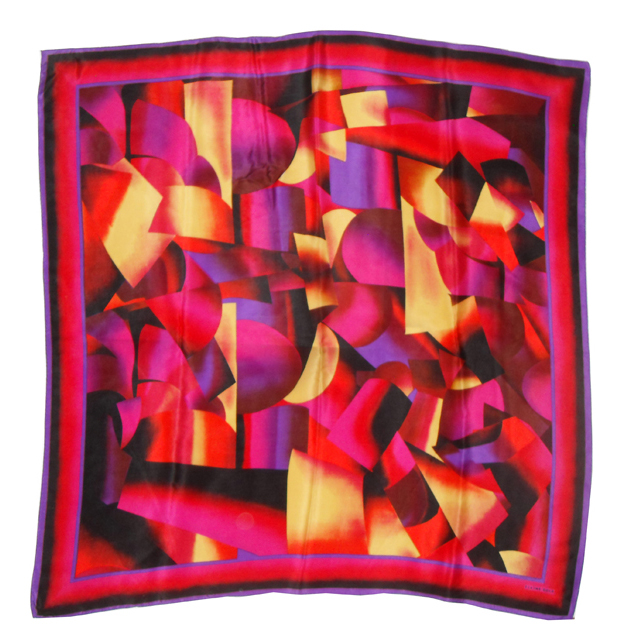 Elaine Gold abstract design silk scarf