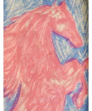 Colourful horses design silk scarf