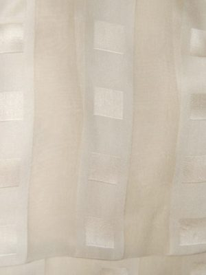 Handrolled edge cream silk satin and chiffon scarf