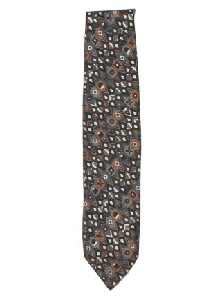 Emilio Pucci silk tie with a design in shades of brown