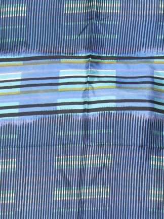 Vintage Liberty silk scarf with a striped design