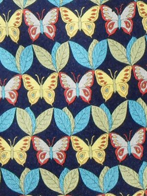 Nazareno Gabrielli Italy silk tie with a butterfly design