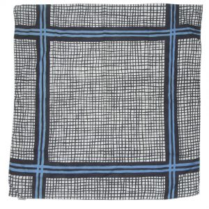 Ascher cotton square with a blue and white design