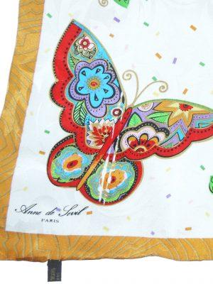 Butterfly print scarf by Anne de Sevil Paris