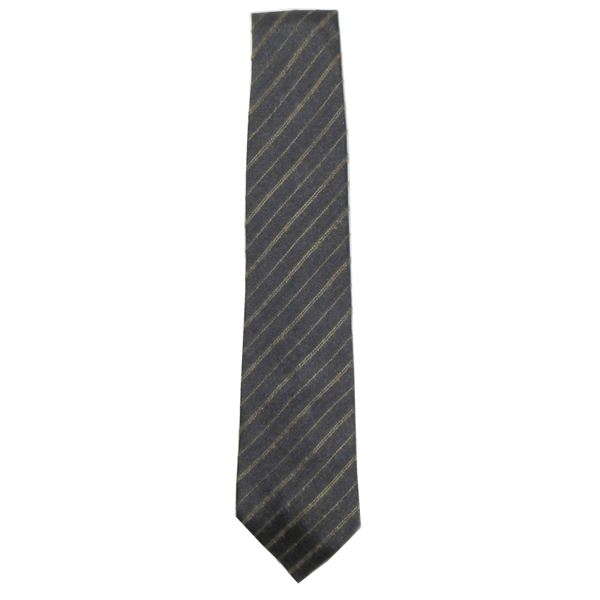 Dunhill silk and mohair mix grey tie with a diagonal stripe design