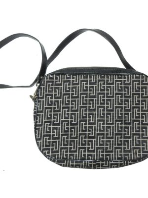 Retro PIerre Balmain fabric shoulder bag with leather lining