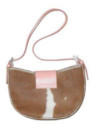 Kurt Geiger small pony skin handbag with embroidered flower detail