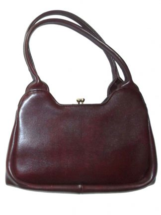 Chamelle by Essel dark purple framed handbag