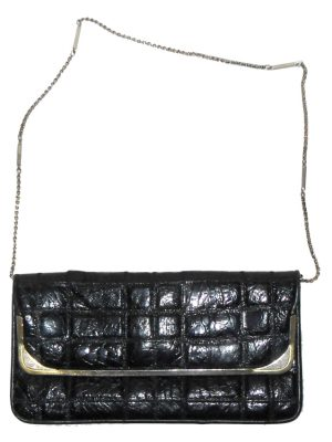Pistore Italy black leather handbag