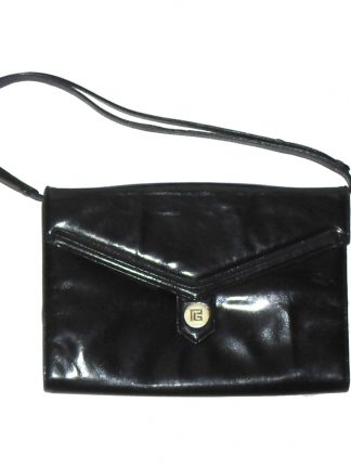 1980s Pierre Balmain black leather handbag