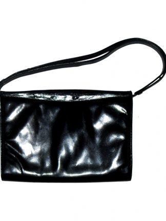 1980s Pierre Balmain black leather handbag