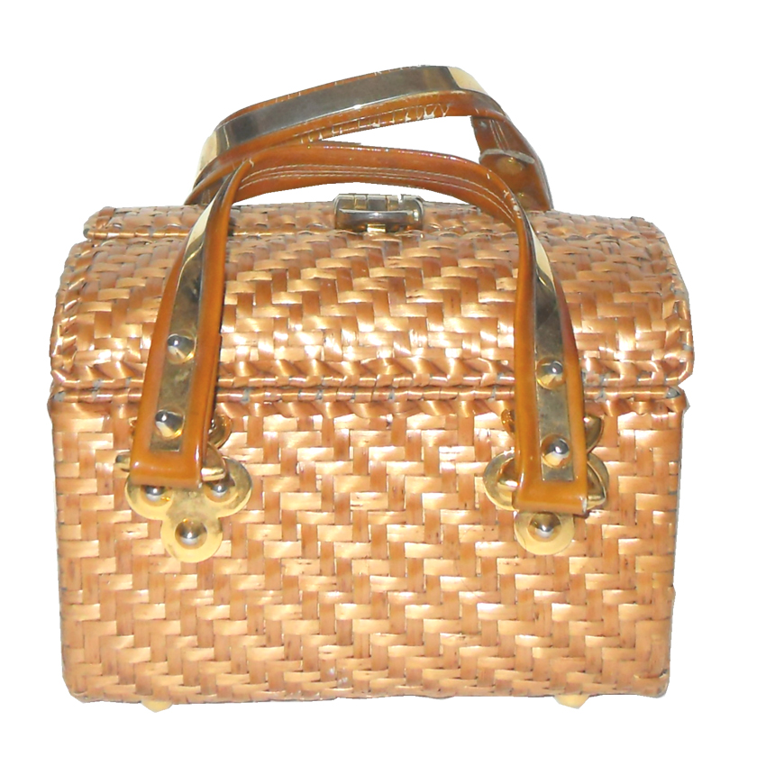 Vintage Rodo Italy wicker box handbag