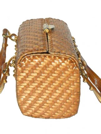 Vintage Rodo Italy wicker box handbag