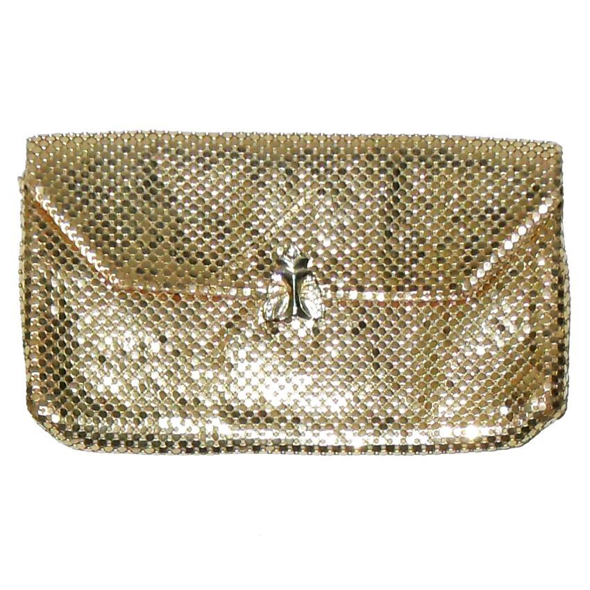 Whiting and Davis gold mesh clutch