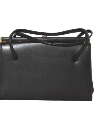 Brown framed handbag suede lined