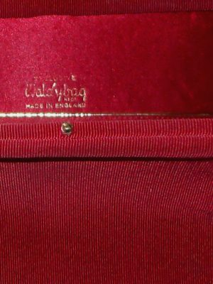 Vintage dark red framed handbag by Waldybag