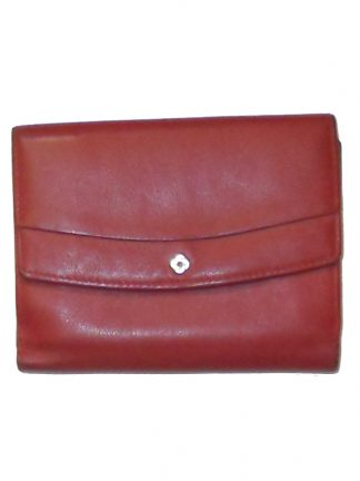 Samsonite red leather purse wallet