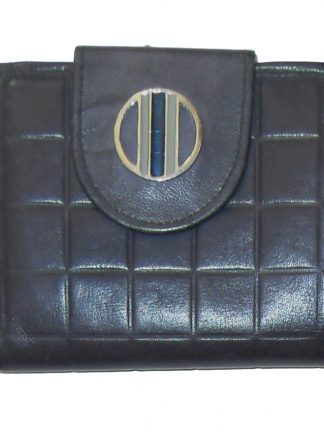Vintage Rolfs blue cowhide leather framed purse