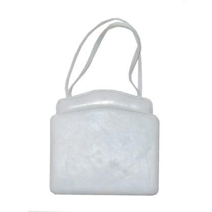 Pickett Wigmore small grey leather handbag