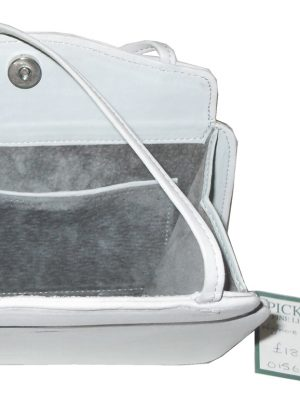 Pickett Wigmore small grey leather handbag