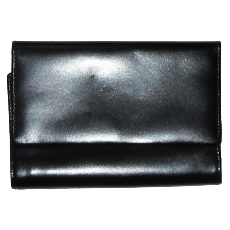 Lancetti black leather purse wallet
