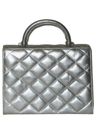 Nouchka Italy silver quilted handbag
