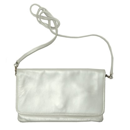 Nicoli Fernando Italy cream leather bag