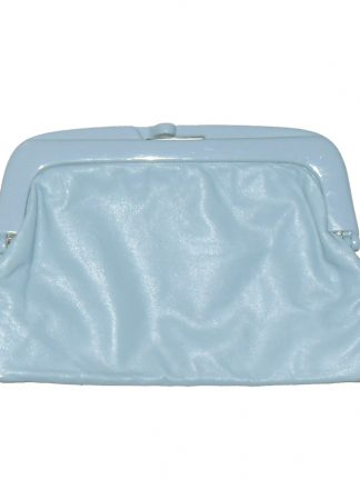 Retro pale blue clutch bag made in Italy