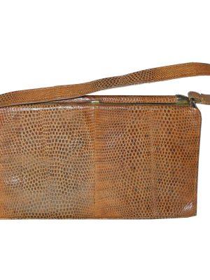 Linslade London lizard skin framed handbag