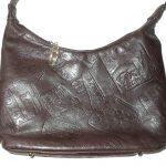 Retro Pinky USA dark brown leather bag