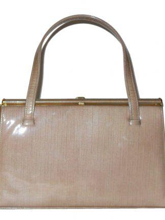 Vintage Holmes of Norwich light brown framed handbag