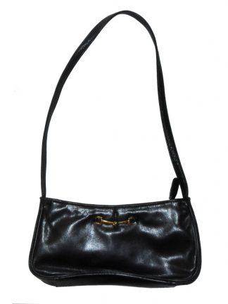 Tula small black leather shoulder bag