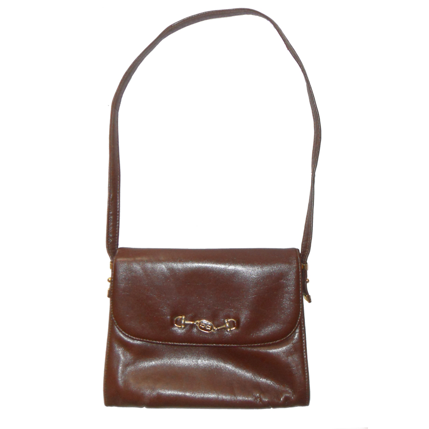Vintage Harmony brown leather shoulder bag