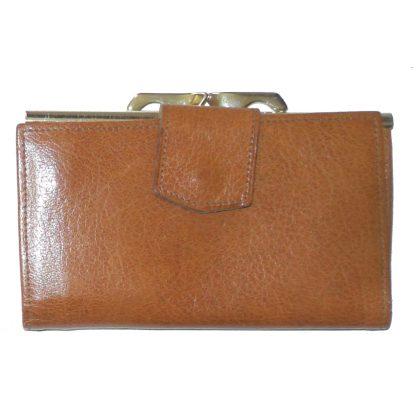 Vintage Lichfield Leather alpine goat leather brown purse wallet
