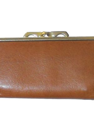 Vintage Lichfield Leather alpine goat leather brown purse wallet