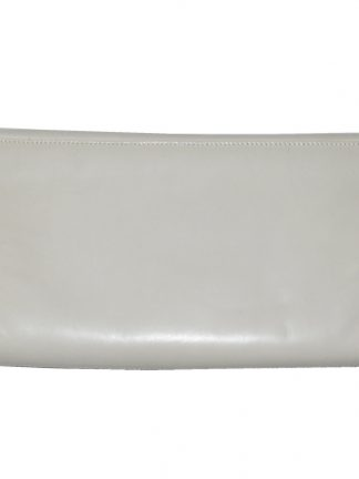 Retro Bally cream clutch bag
