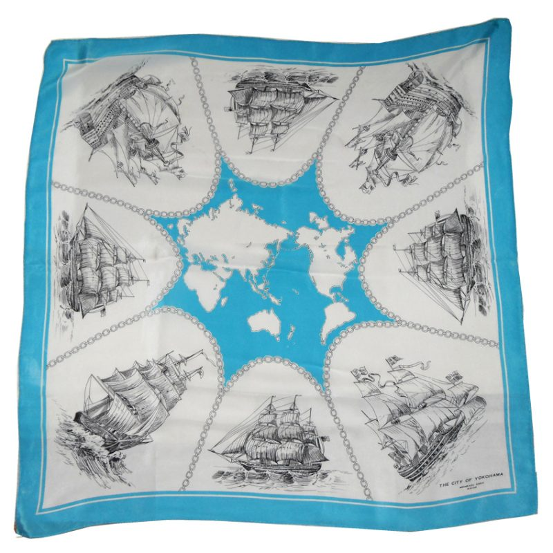 City of Yokohama silk scarf