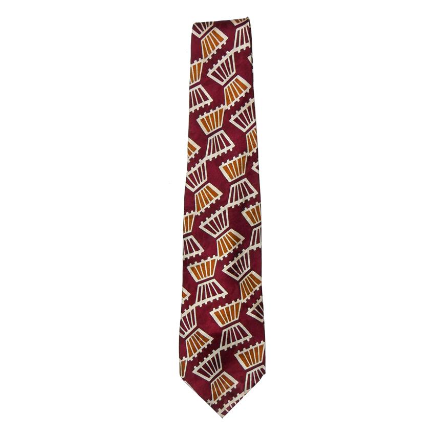 Neo-swing design silk tie by Modules Japan circa 1980s