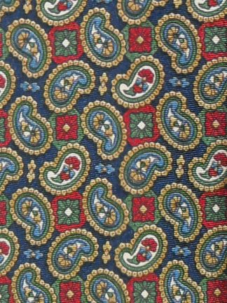 Colibri of London paisley design silk tie