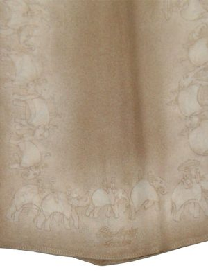 Burberry elephant design silk neck scarf