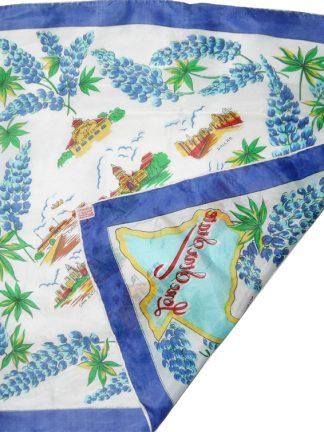Lone Star State silk rayon pocket square neck kerchief