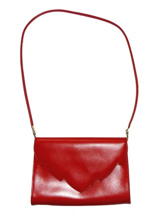 Eros, made in England red leather bag