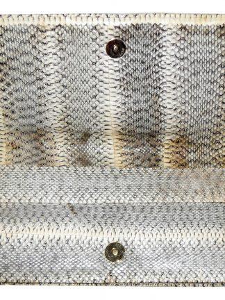 Retro snakeskin clutch bag