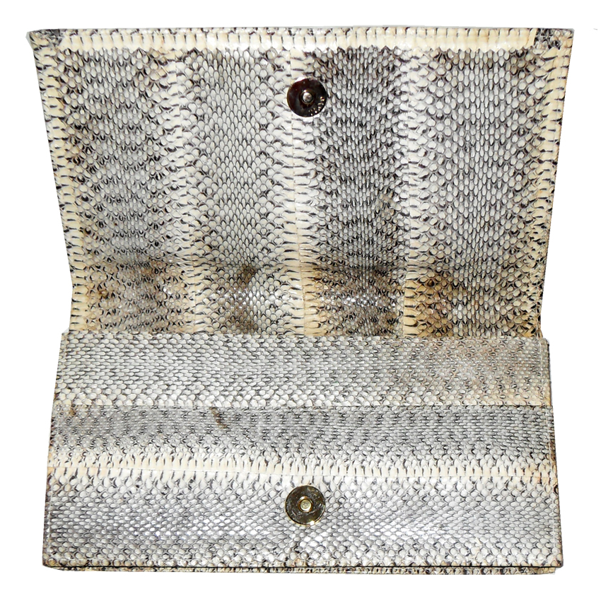Retro snakeskin clutch bag
